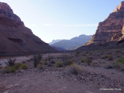 Grand Canyon. West Rim. Helicopter and Boat Tour. The bottom of canyon