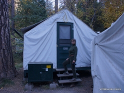 Yosemite National Park. Yosemite Valley. Camp Curry. Our tent