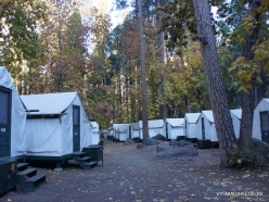 Yosemite National Park. Yosemite Valley. Camp Curry