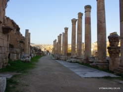 Jerash. Greco-Romanian city of Gearsa. Cardo Maximus