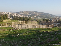 Jerash. Greco-Romanian city of Gearsa. Oval Forum (6)