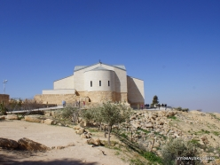 Mount Nebo. Memorial Church of Moses