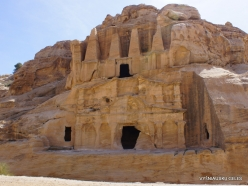 Petra. Road to the ancient city. Obelisk tomb