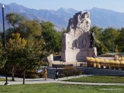 Salt Lake City. Mormon Battalion Monument