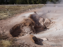 Yellowstone. Fountain Paint Pot. Red Sputer